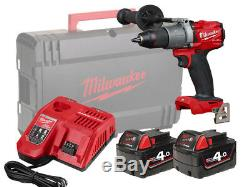 Milwaukee 18v Fuel Brushless Heavy-duty Combi Drill M18fpd2 4.0ah Pack