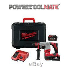 Milwaukee HD18HX-402C 18V Heavy Duty SDS Hammer Drill with 2 x 4.0Ah