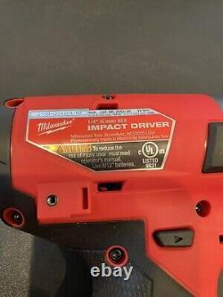 Milwaukee M12 FUEL 1/4 Hex Impact Driver & 1/2 Hammer Drill 2553-20 & 2504-20