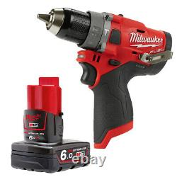Milwaukee M12FPD 12V Fuel Percussion Combi Drill With 1 x 6.0Ah Battery