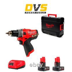 Milwaukee M12FPD-602X M12FPD-0 12V M12 FUEL Hammer Drill Driver 2x 6Ah Batteries