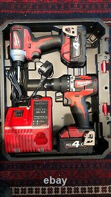 Milwaukee M18 18V Impact Driver & Combi Drill Packout Twin Pack