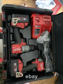 Milwaukee M18 Fuel Drill And Impact Driver Kit Black/Red