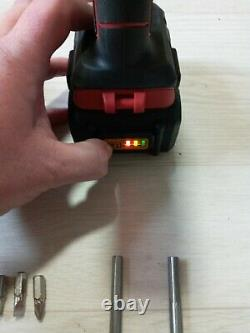 Milwaukee M18BPD-0 18V Compact Percussion Drill 8ah battery & charger drill bits