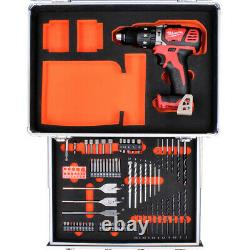 Milwaukee M18BPD 18V Combi Hammer Drill With 70Pc Accessory Set in Aluminum Case