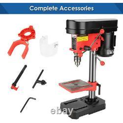 Mini Heavy Duty 350w 50mm Rotary Pillar Drill 5 Speed Press Drilling Bench Press