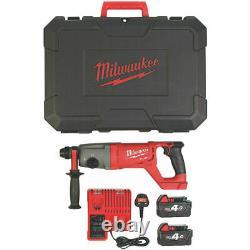 NEW Milwaukee M18CHD-402C FUEL 3.5kg 18V 2 x 4.0Ah Li-Ion SDS Plus Hammer Drill