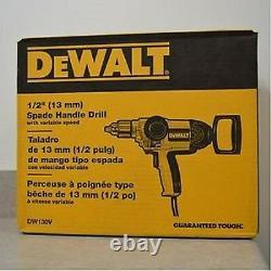 New Dewalt Dw130v Electric Heavy Duty 1/2 9 Amp T-handle Reversible Drill