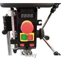 New Heavy Duty 500W 16mm Rotary Pillar Drill Variable Speed Press Drilling Bench