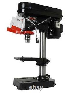 New Heavy Duty 500w 16mm Rotary Pillar Drill 9 Speed Press Drilling Bench Press