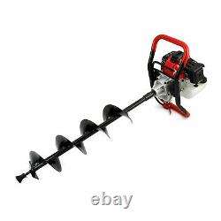 Petrol Earth Auger 3HP Fence Post Hole Borer Ground Drill 3 Bits 52cc Extension
