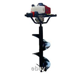 Petrol Earth Auger 68CC Fence Post Hole Digger Borer Ground Drill 11.8 inch Bit