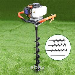 Petrol Post Hole Fence Ground Borer Dig Powerhead And Earth Auger Drill Bits Set