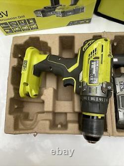 Ryobi R18PD3-215S 18v ONE+ Cordless Percussion Combi Drill & 2x Batteries 1.5ah