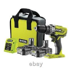 Ryobi R18PD3-215SK 18v ONE+ Cordless Percussion Combi Drill With 2 Batteries