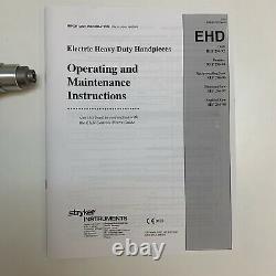 Stryker Instruments 296-92 Electric Heavy Duty Drill Orthopedist Hand Piece