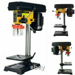URLWALL Bench Top 9 High Speed Pillar Drill Press & Table Stand 16mm Chuck 230v