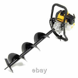 Wolf 52cc Petrol Earth Auger Fence Post Hole Borer Ground Drill & Ext